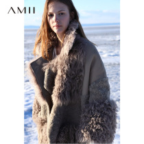 Amii minimalist fur coat Ms. wool fur temperament Winter new lapel in the long section of sheep sheared coat