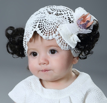 2019 summer models Korean baby hair accessories baby wig hair band crown shape hundred days old Princess shooting headdress
