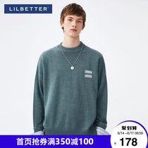 Lilbetter sweater mens oversize knitwear autumn jacket mens top round collar Korean version of the tide sweater jacket