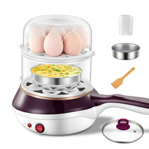 Household multi-functional non-stick pan small frying pan plug electric omelette Steamed Egg Machine flat bottom fried egg pot small double