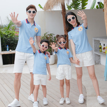 Parent-child summer dress 2019 new family mother and child a family of three four mother and daughter POLO shirt ocean tide T-shirt