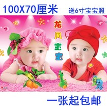 Portrait baby portrait poster wall stickers baby fat big eyes decoration wall stickers photo Meng wallpaper