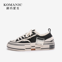 Comanick 2019 autumn and Winter new fashion low-top casual canvas shoes beggar shoes womens shoes shoes