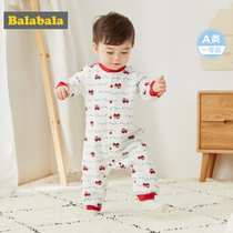 Balabala newborn baby clothes autumn and winter conjoined baby romper romper boy cotton cloth newborn thick