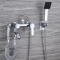Shower set simple shower faucet hot and cold bathroom bathroom bathtub shower bath mixing valve faucet
