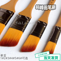 Cakken nylon hair brush brush slant peak soft and hard moderate coloring softer elastic good 1#-5#single