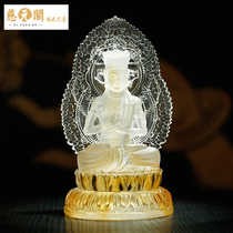 Chee yuan GE open light 12 Lunar New Year book Buddha eight patron saint glass ornaments Amitabha Manjushri furnishings