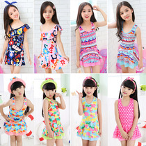 New childrens swimwear Siamese Princess girls in the Big Child Children Baby swimwear students floral swimwear