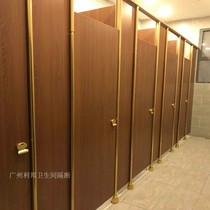 High-grade gold accessories bathroom partition board toilet partition door shower anti-fold special fire proof waterproof
