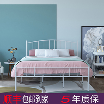 Nordic wind wrought iron bed hotel bed and breakfast iron frame bed princess bed 1 2 m single bed 1 5 M 1 8 m double bed