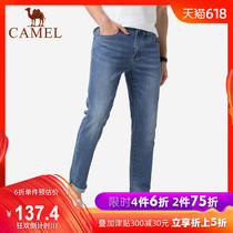 Camel mens 2019 summer thin section jeans mens Korean slim trend straight stretch casual trousers