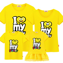 Net Red 2019 New Wave parent-child loaded spring and summer loaded with the whole family mother and child loaded foreign-style T-shirt a family of three Korean version of the large size