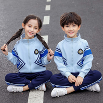 Kindergarten clothing spring and autumn installed Junior High School two bar childrens sportswear school uniforms suit college wind pupils class uniforms