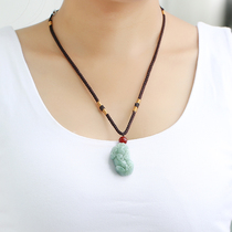 Natural Emerald Jade Pixiu pendant men and women to recruit money to ward off a goods Burmese crystal necklace Jewelry Open Light