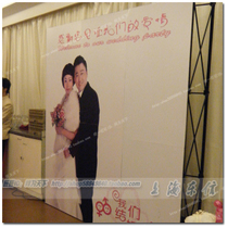 Reusable wedding signature wall wedding sign wall pull net exhibition welcome poster wedding supplies