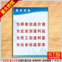 Service tenet factory system procedures flipchart responsibility flipchart post exhibition board enterprise culture placard custom
