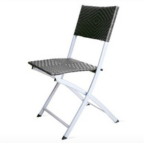 Beauty division reliable back folding chair computer chair portable office chair outdoor Western casual plastic rattan chair