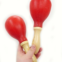 - Percussion instrument hand bell KTV wooden handle sandhammer adult use ( large pair )