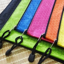 Colorful football pattern file bag A4 waterproof zipper bag thickened Oxford color storage bag zipper bag