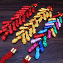 Spring Festival New Year New Year decorative sequins peanut string pendant pepper string bag string arrangement of goods decorative supplies