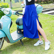 Summer sunshade skirt bike riding electric car anti-walking skirt a skirt dress long skirt skirt free to wear portable