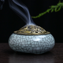 RAJ Indian Aroma Green Porcelain Aroma therapy Furnace Hand-line Sandalwood Scented Incense Furnace