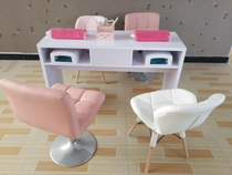 Simple single double threesome triple double Nail table nail Bar Manicure Table Makeup table and chair stool