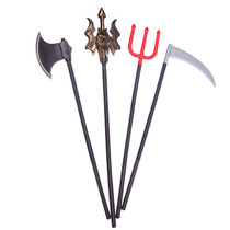 Halloween Halloween death sickle fake knife knife weapon weapon sickle red Three Fork Knife folding weapon cosplay