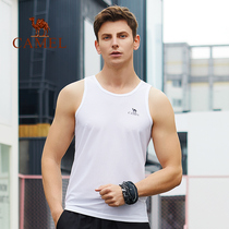 Camel fitness suit mens sports vest tights sleeveless basketball quick-drying training clothes high-elastic running base 19 models