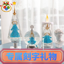 Christmas atmosphere lamp birthday gift exquisite home decoration crystal wish water lamp small night lamp shake sound the same.