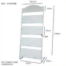Aluminum alloy exhibition data frame landing single page magazine books and magazines directory sample display rack
