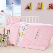 Kindergarten quilt Three pieces of pure cotton containing core seven sets of children six pieces set bedding baby bedding Winter was