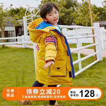 2019 new cotton clothes boys in the long section of the tooling girls down coat in the childrens children winter thick coat