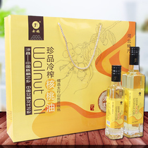 Hebei Yanxian special gift boxed son-in-law press cold-pressed pure walnut oil edible oil 1500ml.
