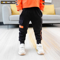 Left West boy pants autumn 2019 New childrens sports pants in the Big Boy Boy casual pants Korean version of the tide
