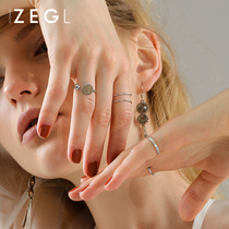 ZEGL joint ring Female Network red index finger ring ring Japan and South Korea simple personality tide tail ring ring combination