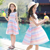 Childrens clothing girls dress summer 2019 new large childrens summer skirt Western style girl princess dress