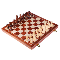 Wooden magnetic chess children adult suit folding chess board puzzle desktop game chess game