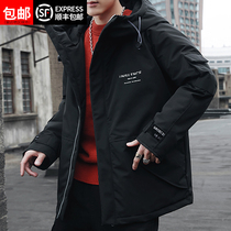 Winter down jacket male 2018 new Korean version of the trend of short paragraph handsome thickening student tooling Parker men