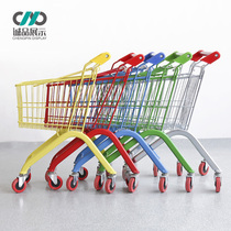 Childrens shopping cart child mini cart toy family supermarket baby large metal hand push child car