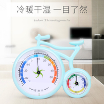 Cartoon thermometer home hygrometer indoor baby room wet and dry meter multi-functional childrens room thermometer table