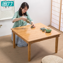 Foldable coffee Table Japanese-style tatami floating window table balcony table Simple modern small household tea table dwarf small Kang table