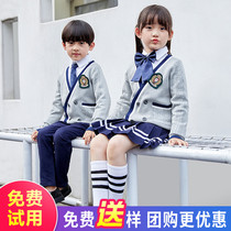 Kindergarten clothing spring and autumn three-piece British wind school uniforms suit Primary School Wind childrens clothing custom