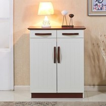 Shoe cabinets simple Modern foyer cabinets solid wood paint assembly multifunctional large capacity lockers special offer