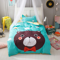 Cotton printing cartoon cartoon cotton student dormitory bed linen quilt cotton children three sets of bedding sets
