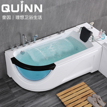 Quinn home adult bathroom small apartment water curtain waterfall mini bath Basin acrylic net red Jacuzzi