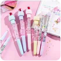 Creative 4-in-1 Multi-Purpose ballpoint pen blowing bubbles pen light wheel seal stamp pen students 5-in-1