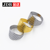 JD Yida Accessories Sewing DIY tool metal thimble thickening finger sleeve stitch. Hand-Guard Gold