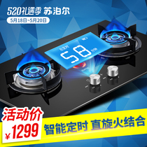 SUPOR Supor DB2E2 intelligent timing gas stove natural gas stove double stove liquefied gas household