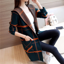 Very fairy Plaid cardigan sweater female 2019 new Womens wear spring Chinese long knitted coat women autumn Winter